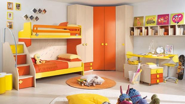 Des chambres d'enfants aux couleurs joyeuses