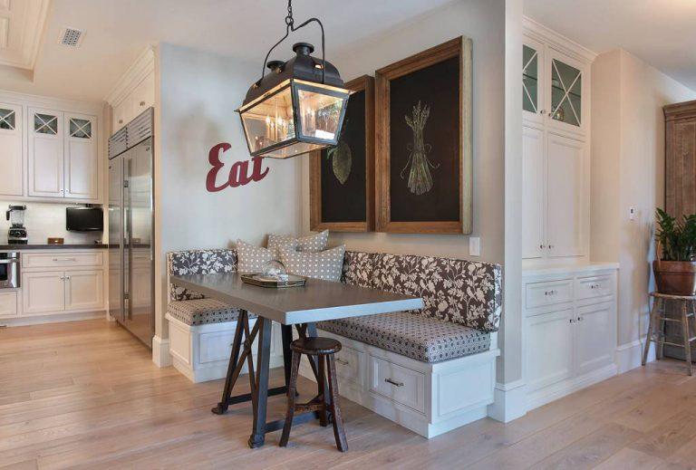 inspirer à créer un coin repas avec banquette dans votre cuisine
