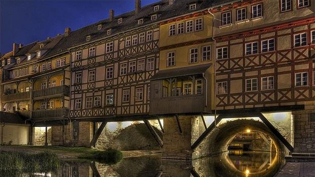 Kramerbrucke : le pont habité d'Erfurt