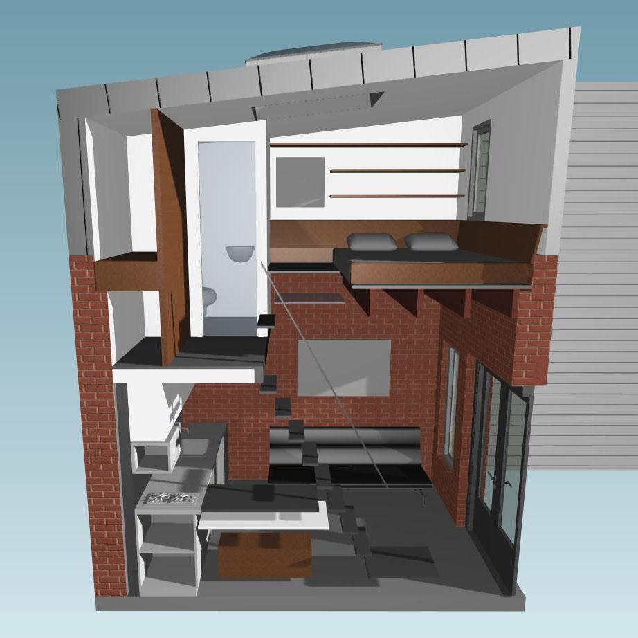 micro appartement dans petite maison brique (8)