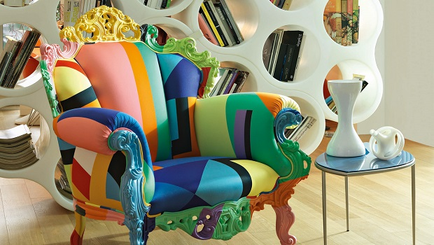 Le superbe fauteuil multicolore de Cappellini