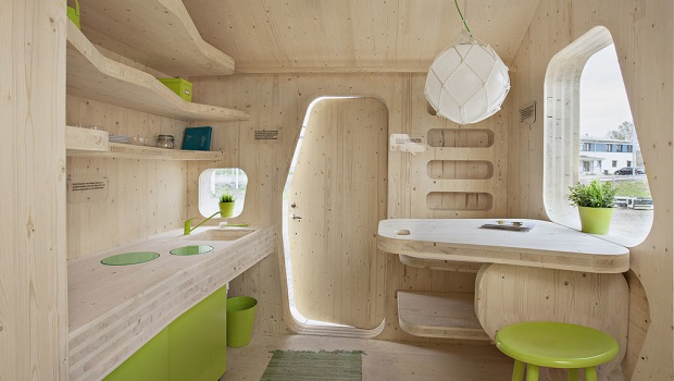 Un petit studio étonnant, mobile et respectueux de l'environnement