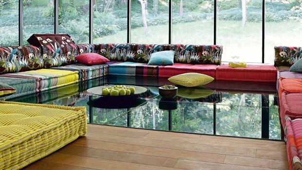 Un canapé modulaire Mah Jong élégant