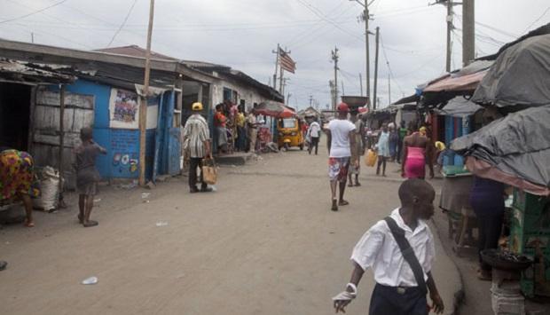 West Point, un bidonville à Monrovia