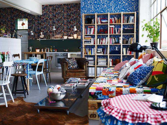 id es de d coration pour salon de chez ikea. Black Bedroom Furniture Sets. Home Design Ideas