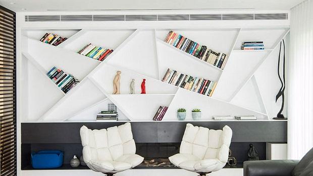 Une étagère à livres au design unique