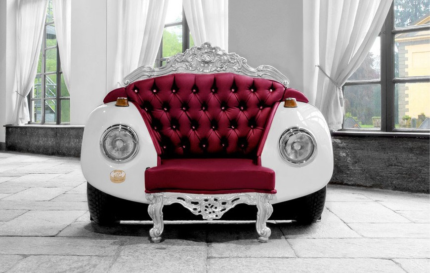 un fauteuil baroque inspir de la voiture beetle. Black Bedroom Furniture Sets. Home Design Ideas