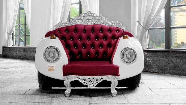 Un fauteuil baroque inspiré de la voiture Beetle