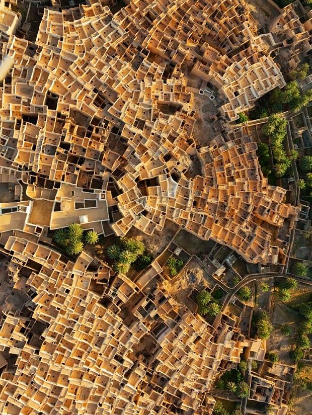 La ville de Ghadamès vue du ciel