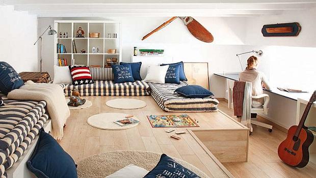 Une chambre de garçon inspirée du nautisme