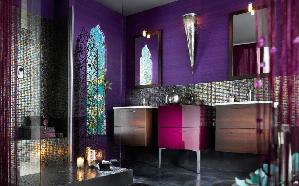 salle de bains brillante et unique (6)