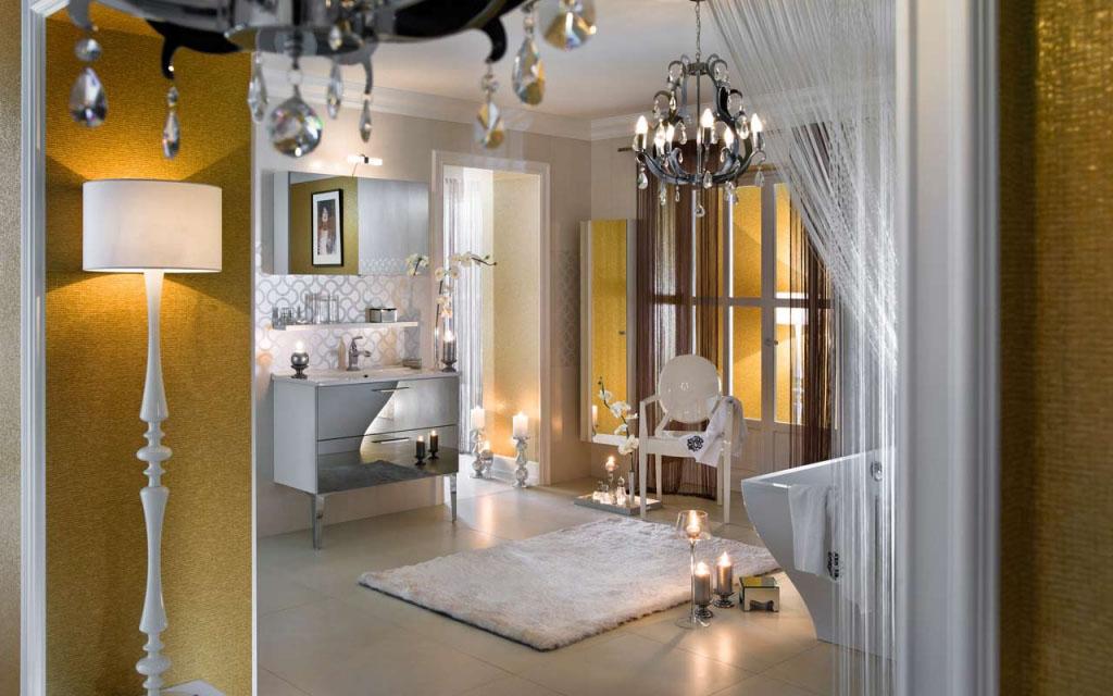 salle de bains brillante et unique (8)