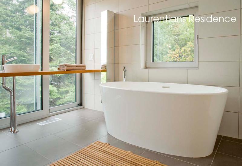 Les formes pures des salles de bains de luxe for Salle de bain hotel de luxe