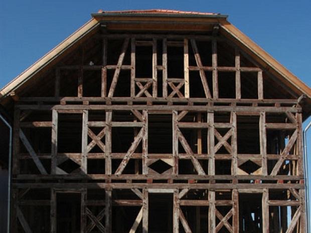 squelette maison à colombages