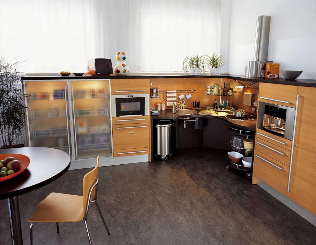 Une cuisine moderne et ergonomique adapt e aux personnes - Cuisine fonctionnelle et ergonomique ...