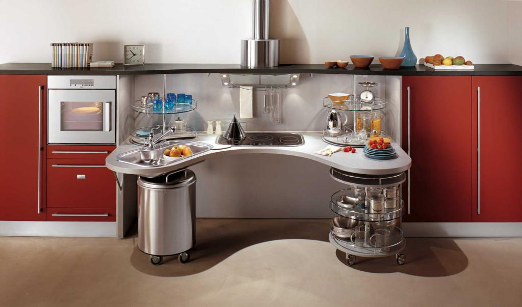Une cuisine moderne et ergonomique adapt e aux personnes en fauteuil roulant - Cucine per disabili ...