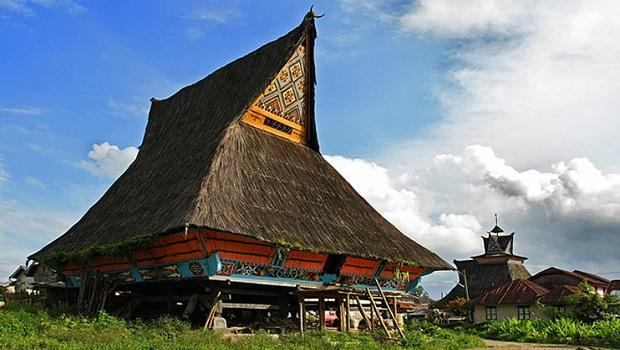 Le rumah traditionnel des Batak Karo