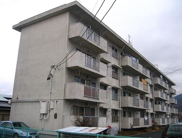Un danchi à Aizuwakamatsu