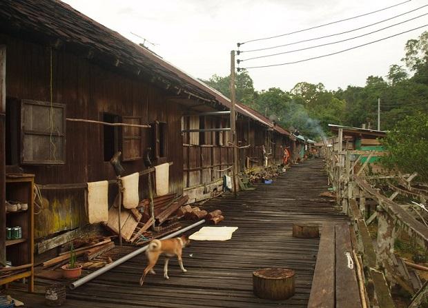 Maison longue Malaisie