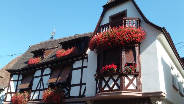 maison à colombages alsacienne