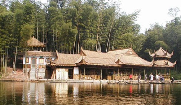 maison en bambou chine
