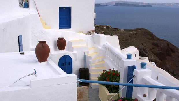 Les maisons blanches des Cyclades