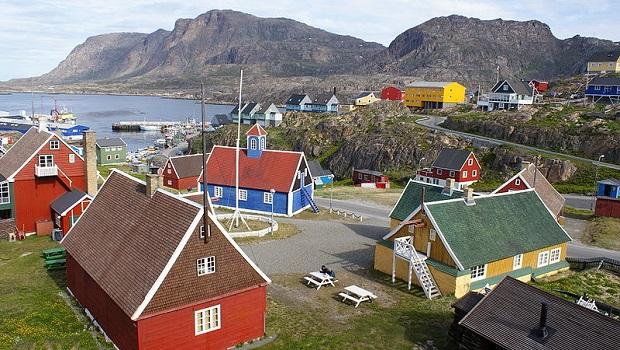 maisons colorée groenland