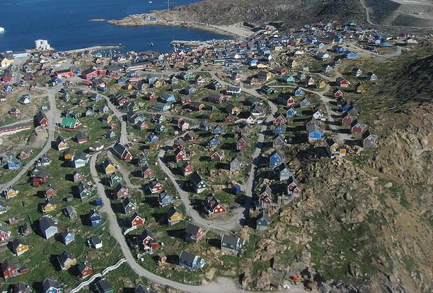 maisons colorées groenland
