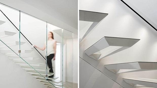 Ces escaliers ont été inspirés par l'art japonais du pliage de papier