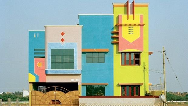 Les maisons colorées de Tiruvannamalai