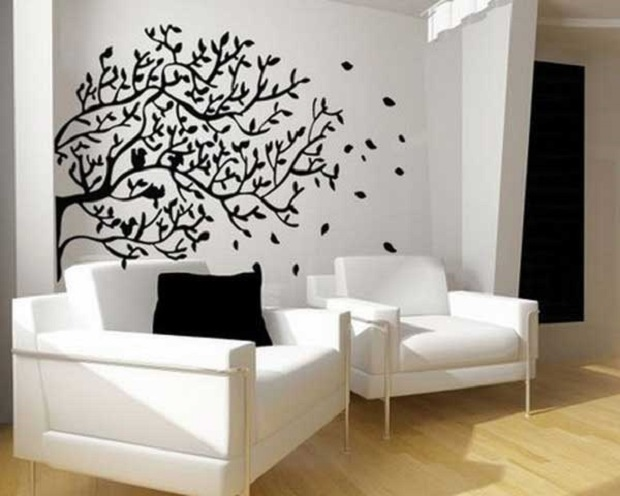 d corez votre salon avec des stickers muraux. Black Bedroom Furniture Sets. Home Design Ideas