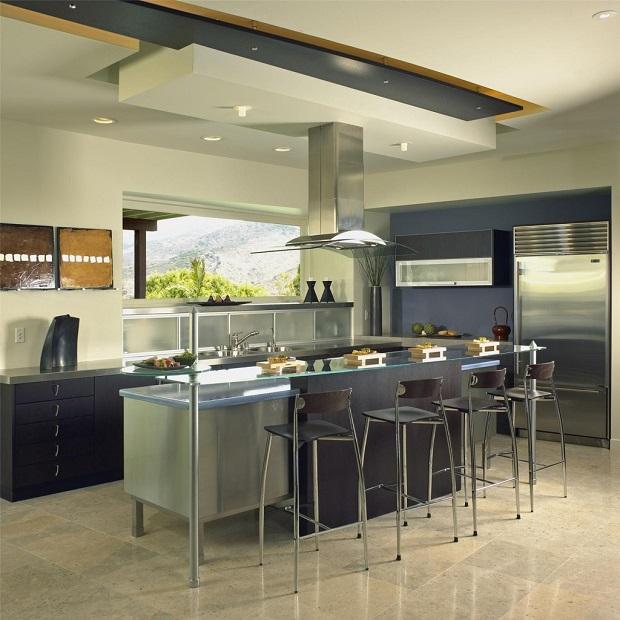 Id es de cuisine ouverte au design contemporain - Cuisine ouverte design ...
