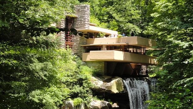 la maison sur la cascade de frank lloyd wright. Black Bedroom Furniture Sets. Home Design Ideas