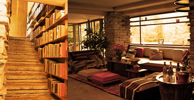 la maison sur la cascade de frank lloyd wright. Black Bedroom Furniture Sets. Home Design Ideas