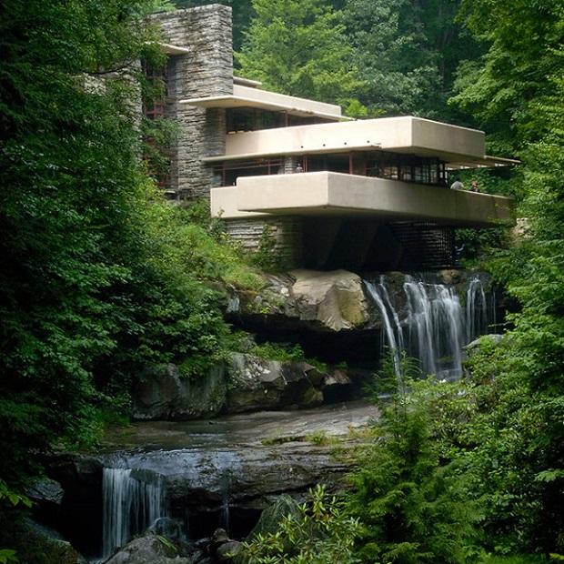 La maison sur la cascade de frank lloyd wright for Maison cascade