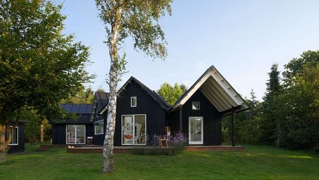Maison avec des éléments danois traditionnels