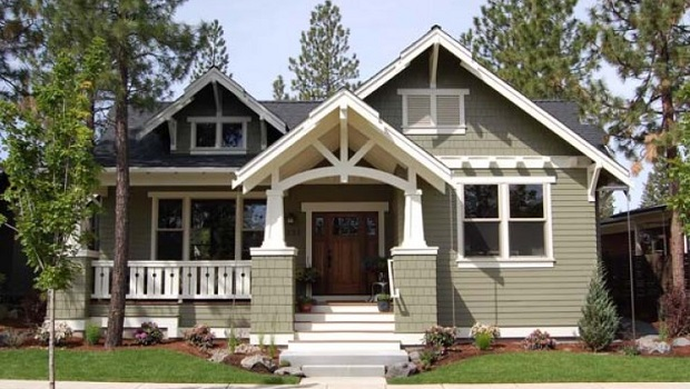 Le style craftsman architecture am ricaine - One level house plans with basement paint ...