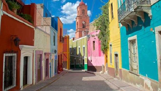 Les maisons colorées de Guanajuato