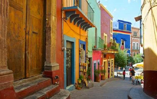maison colorée guanajuato