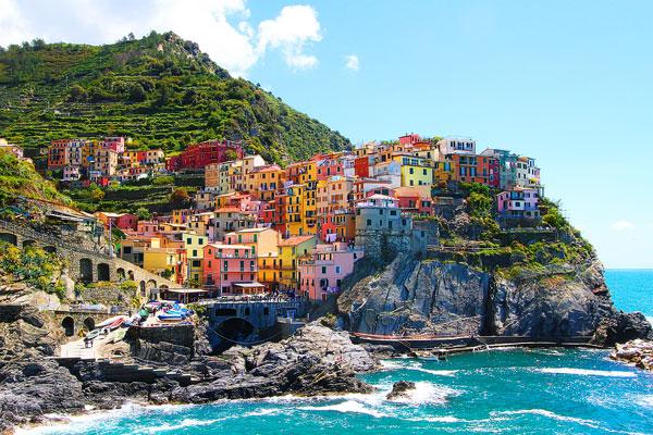 maisons colorées manarola