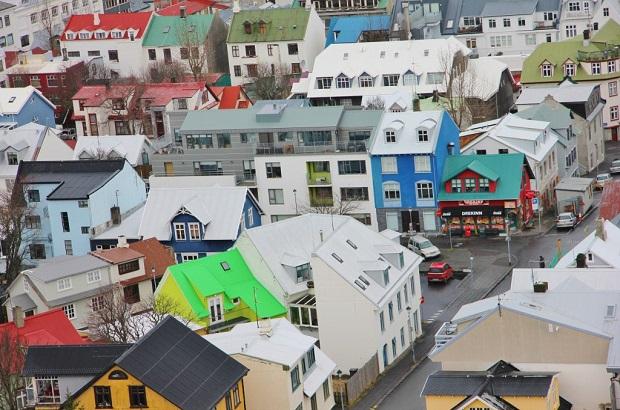 maisons colorées reykjavik