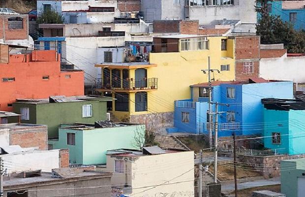 maisons colorées zacatecas