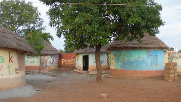 hutte peinte