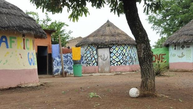 huttes peintes