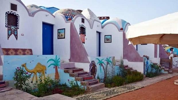 Maisons colorées à Assouan