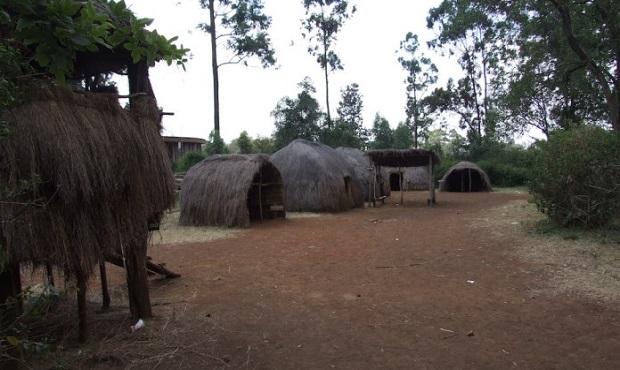 huttes traditionnelles kenya