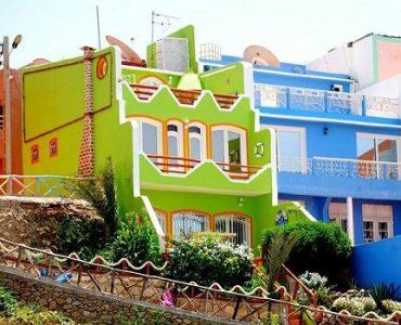 maisons colorées maroc