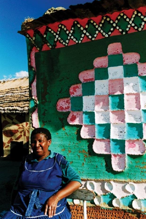 maison décorée lesotho