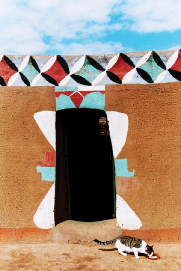 maisons décorées lesotho