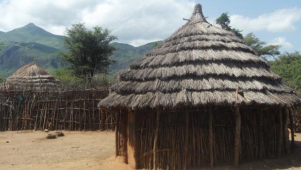 La hutte du peuple Karamojong